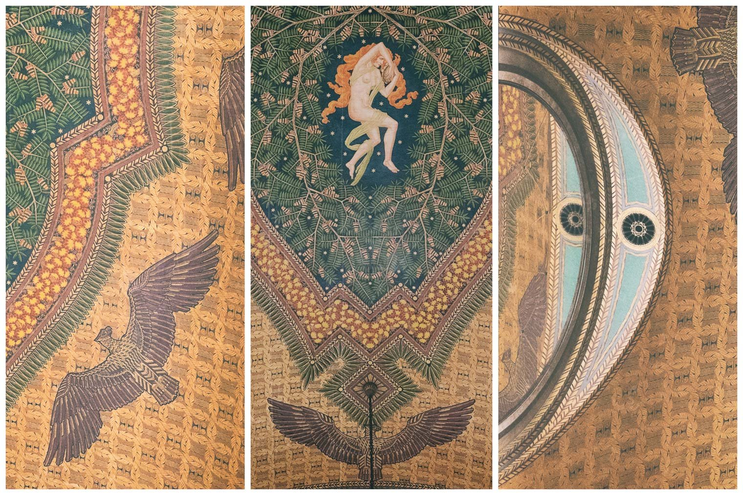 Fisher Building Detroit ceiling art